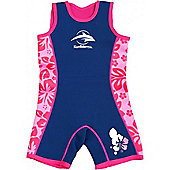 Konfidence Warma Wetsuit Pink Hibiscus 4 to 5 Years