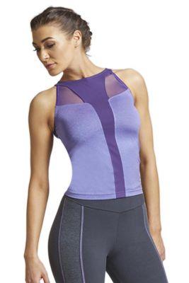 T Panel Mesh Inset Workout Vest Purple 2X