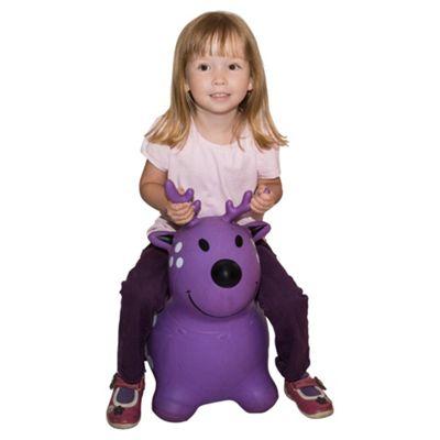 Happy Hopperz Purple Deer Bouncing Animal