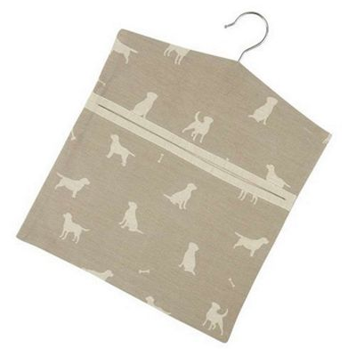 Dexam Happy Hounds Peg Bag in Clay 16150285
