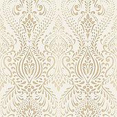 Superfresco Glamour Damask Glitter Cream/Gold Wallpaper