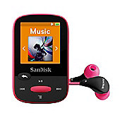 SanDisk Clip Sport 8GB MP3 Player - Pink