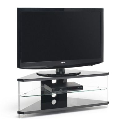 Techlink Air Black Corner TV Stand For TVs up to 50 inch
