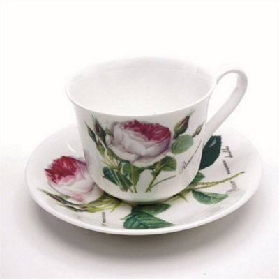 Roy Kirkham Redoute Rose Chatsworth Teacup and Saucer