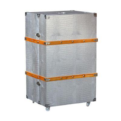 Moc Croc Silver Luggage Trunk