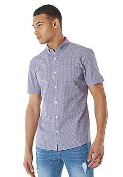 F&F Checked Short Sleeve Shirt - Purple