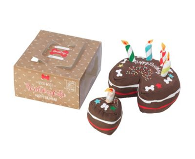 Chocolate Birthday Cake Dog Toy