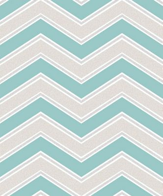 Coloroll Chevron Teal Wallpaper