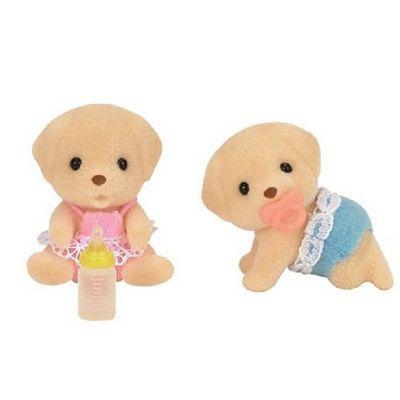 Yellow Labrador Twin Babies - Sylvanian Families Baby Dog Figures 5189