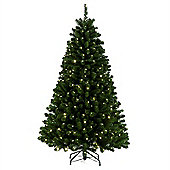 7ft Green Arctic Spruce with Warm LEDs Christmas Tree