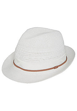 F&F Thermo Trilby Foldable Hat - White