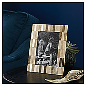 "Fox & Ivy Gold Textured Metal Photo Frame 5x7"""