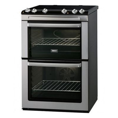 ZAN-ZCI660EXC 60cm Electric Double Oven with Four Induction Hob Zones