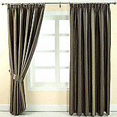 """Homescapes Grey Jacquard Curtain Modern Striped Design Fully Lined - 90"""" X 54"""" Drop"""