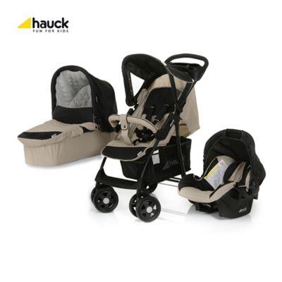 Hauck Shopper Trio Travel System, Almond/caviar