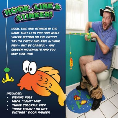 Funtime Hook Line and Stinker Toilet Fishing Game