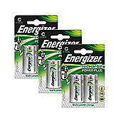 6 x Energizer ACCU Rechargeable C Cell NiMh Batteries (2500mAh)