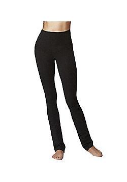 Women's Slimming Tummy Control Shapewear Standard Waist Slim Fit Trouser Black - Short Length - Black