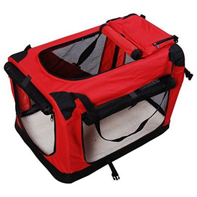 Pawhut Folding Fabric Soft Portable Pet Dog Cat Crate Puppy Carrier