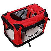 Pawhut Folding Fabric Soft Portable Pet Dog Cat Crate Puppy Carrier