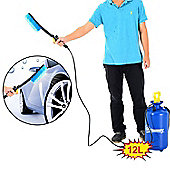 Outsunny 12L Car Washer Portable Hand Pump Action High Pressure Sprayer Cleaner Water Wash Hose