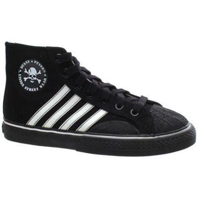 Vision Duane Peters Hi Top 4-Stripe Black/White Shoe