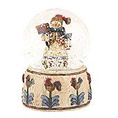 Musical Snowman Snow Globe