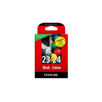 Lexmark No. 23/24 Black and Colour Combo Pack Ink Cartridge Multipack 018C1419E