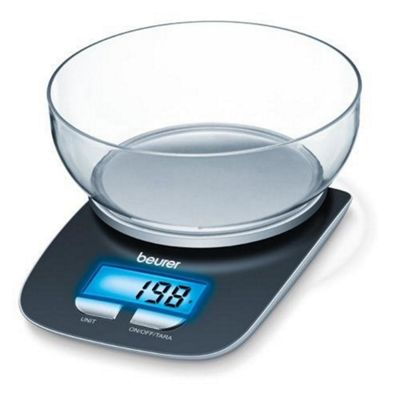 Beurer KS25 Kitchen Scales with Bowl & Illuminated Display