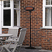 Black Free Standing Electric Patio Heater