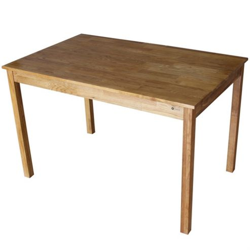 Homegear Solid Oak Rectangular Dining Table