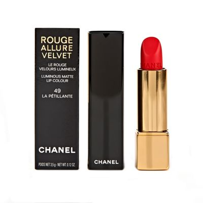 Chanel Rouge Allure Red Lipstick 49 La Petillante
