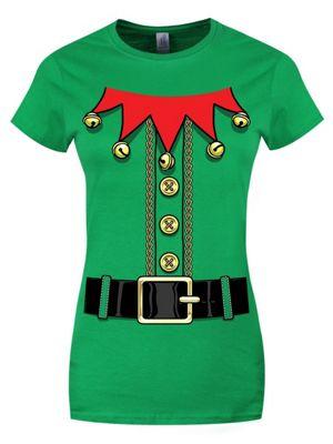 Santa's Little Helper Green Women's T-shirt