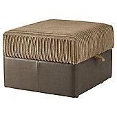 Kendal Jumbo Cord Storage Footstool, Taupe