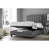 Happy Beds Metro Grey Fabric Ottoman Bed Frame - Double (4'6)