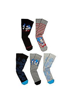 Sega Sonic The Hedgehog 5 Pair Pack of Ankle Socks - Multi