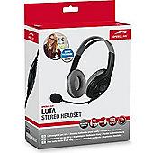 SPEEDLINK LUTA Binaural Head-band Black headset 150 g 1.9 m