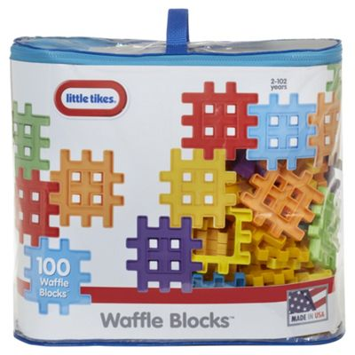 Little Tikes Waffle Blocks 100 Piece Bag