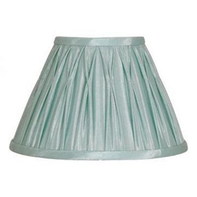 35cm Lamp Shade Duck Egg Polysilk Pinch Pleat Design