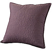 Highams Embroidered Pillow Case Cushion Cover, 43 x 43 cm - Vintage Mauve