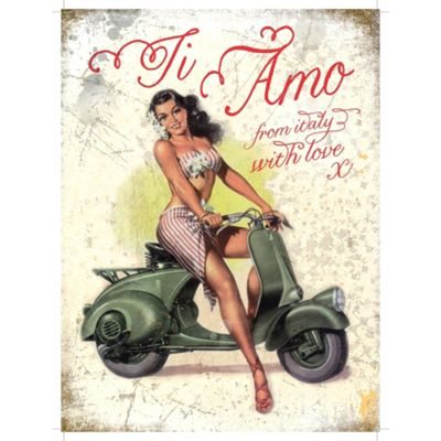 Vespa ti ama Metal Sign - 30x40cm