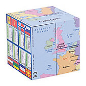 ZooBooKoo European Nations Map, Flags and Facts Geographical Cube Book