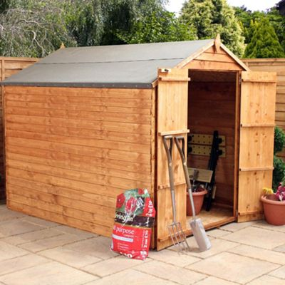 Mercia Windowless Overlap Apex Wooden Shed, 8x6ft