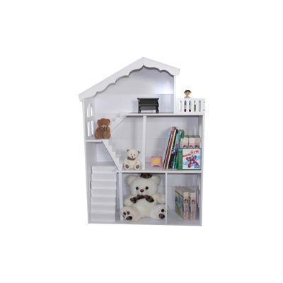 Liberty House White Dollhouse Bookshelf with Balcony