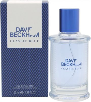 David Beckham Classic Blue Eau de Toilette (EDT) 40ml Spray For Men