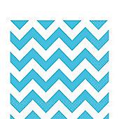 Turquoise Chevron Napkins - 2ply Paper