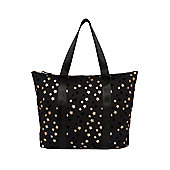 F&F Glitter Star Canvas Tote Bag