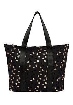 F&F Glitter Star Canvas Tote Bag