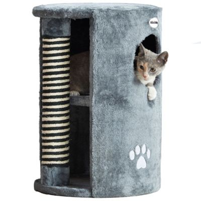 Milo & Misty Cat Scratching Post Tree Activity Centre - Grey