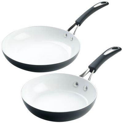 Meyer Silverstone 20cm & 28cm Frying Pans, Blackberry Black